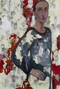 Alessandra Di Francesco MIT Come il vento che soffia senza fine, mit hinhen,136x90, olio s tela, 2012