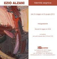 Ezio Alzani, Identità Segniga, galleria Spazio Solferino di Milano